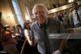 bernie in a church